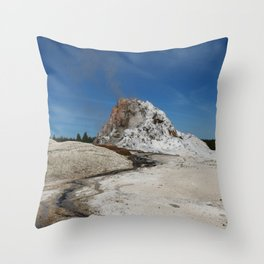 White Dome Throw Pillow
