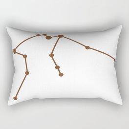 Aquarius (Brown & White) Rectangular Pillow