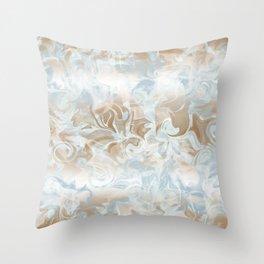 Watercolour Blue Gray Throw Pillow