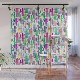 Watercolor Cacti - Pinks - Saguaros Wall Mural