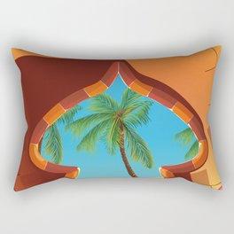 Jordan Palace travel poster Rectangular Pillow
