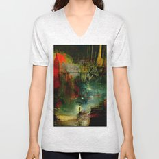 The city which fell asleep Unisex V-Neck