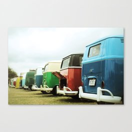 Colorful Buses Canvas Print