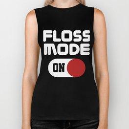Floss Like A Boss Dance Flossing Dance Shirt Gift Idea Floss mode on Biker Tank
