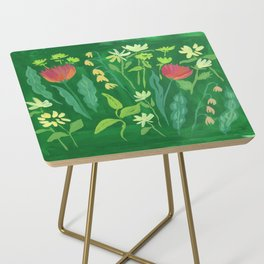 Sweet Flowers and Stems Side Table