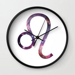 Leo Zodiac Symbol Wall Clock