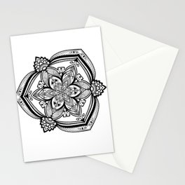 Flower in the Rough Mandala Stationery Cards