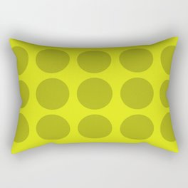 Lime Polka Rectangular Pillow