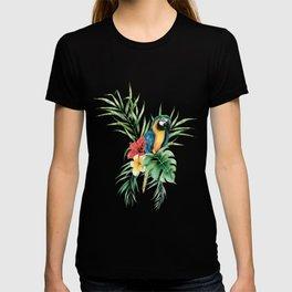 Tropical Blue Parrot T-shirt