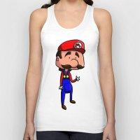 super mario Tank Tops featuring Mario - Super Mario Bros by Dorian Vincenot
