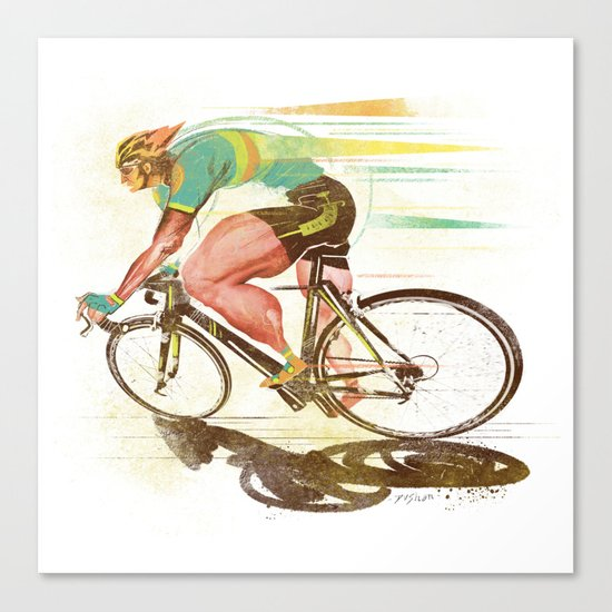 The Sprinter, Cycling Edition Canvas Print