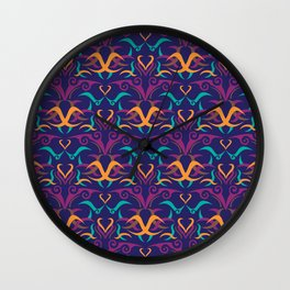 Ethnic Pattern 1 Wall Clock