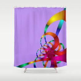 chaotic colors -1- Shower Curtain