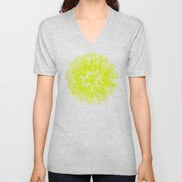 Make A Wish Dandelion Vector In Yellow Unisex V-Neck