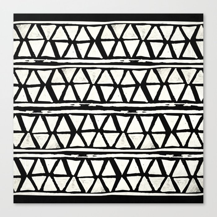 Tribal Geometric Band Canvas Print