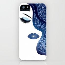 glittery woman iPhone Case