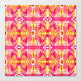 Tie Dyed Lips Kaleidoscope Canvas Print