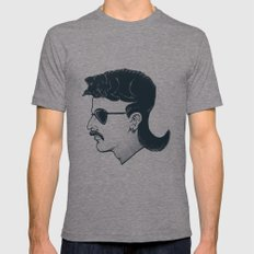 The Mullet LARGE Tri-Grey Mens Fitted Tee
