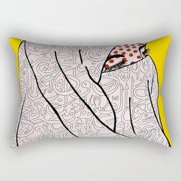 Roy Lichtenstein Meets the Arabic Woman Rectangular Pillow