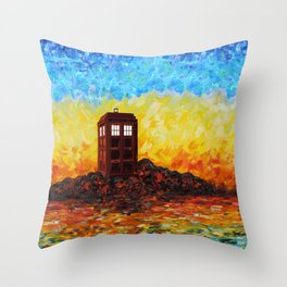 Tardis at the twilight zone iPhone 4 4s 5 5c 6, pillow case, mugs and tshirt Throw Pillow