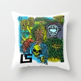 FROM THE DRAWING OF THE STARVING ARTIST Throw Pillow