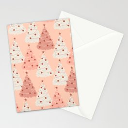 Vintage Christmas Trees Stationery Cards