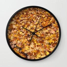 MorningWalks Autumn Leaf Pile Wall Clock