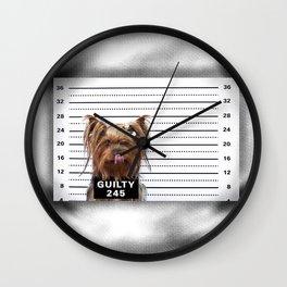 GUILTY! Wall Clock