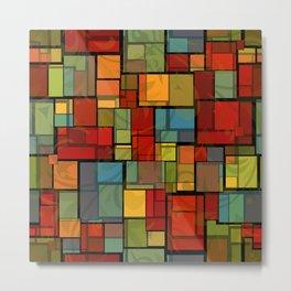 Stained Glass Geometric Pattern Metal Print