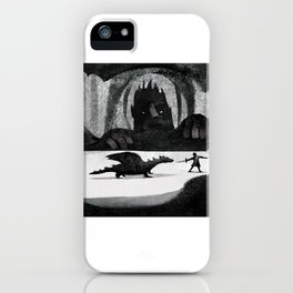 Dragon and dogs dark worlds iPhone Case