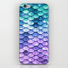 Mermaid Ombre Sparkle Teal Blue Purple iPhone Skin