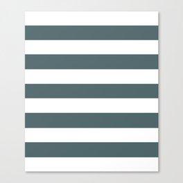 Stormcloud -  solid color - white stripes pattern Canvas Print
