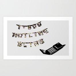 Hotline Ring Art Print