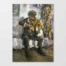 gipsy musician with viola Canvas Print