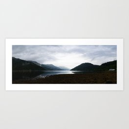 Panoramic view over Gare Loch Argyll and Bute Scotland Art Print