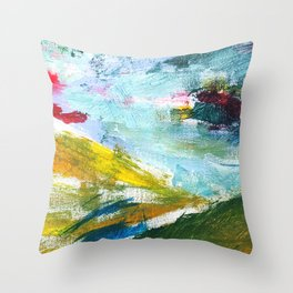 Flying Up - Abstract Painting Throw Pillow