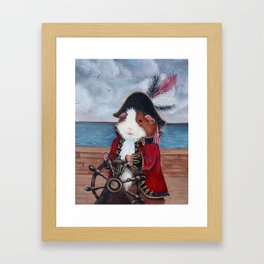 Broccoli Jones the Guinea Pig Pirate Framed Art Print