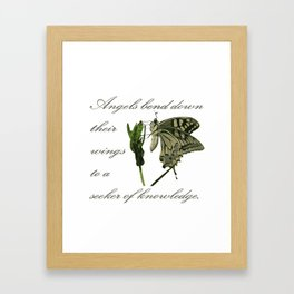 Angels Bend Down Their Wings To A Seeker Of Knowledge Framed Art Print