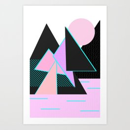 Hello Mountains - Moonlit Adventures Art Print