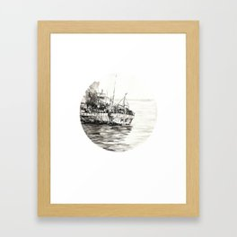 GHOST SHIP II Framed Art Print
