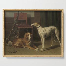 Conradijn Cunaeus - Hunting companions (1860) Serving Tray