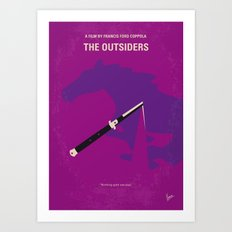 No590 My The Outsiders minimal movie poster Art Print