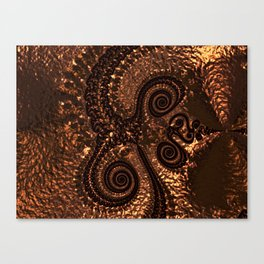 Textured Hammered Copper Canvas Print