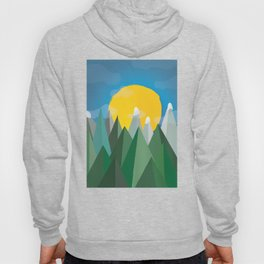 Sunset over the mountains Hoody