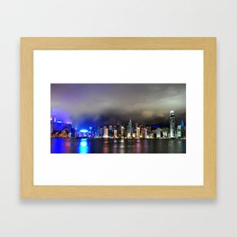 A Night at Victoria Habour Framed Art Print