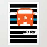vw bus Art Prints featuring VW Bus by see BOLD