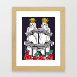 Divide and Conquer Navy Framed Art Print