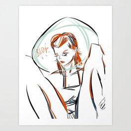 Blop Cosmic Girl - Gerald Robin © Design Art Print