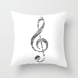 Scribble sol key Throw Pillow