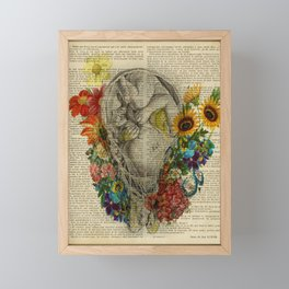 Pregnancy anatomy, Baby Shower Decor, Floral Fetus in Womb, Pregnant Woman Gift, Obstetrician Gift Framed Mini Art Print